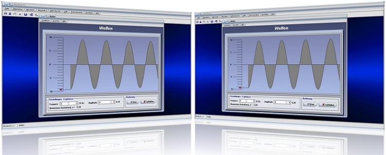 PhysProf - Welle - Wellenlänge - Wellen - Longitudinalwelle - Nulldurchgang - Transversalwelle - Wellen - Querwellen - Längswellen - Simulation - Ausbreitung - Richtung - Frequenz - Zusammenhang - Rechner - Berechnen - Graph - Amplitude - Auslenkung - Ausbreitungsrichtung - Geschwindigkeit
