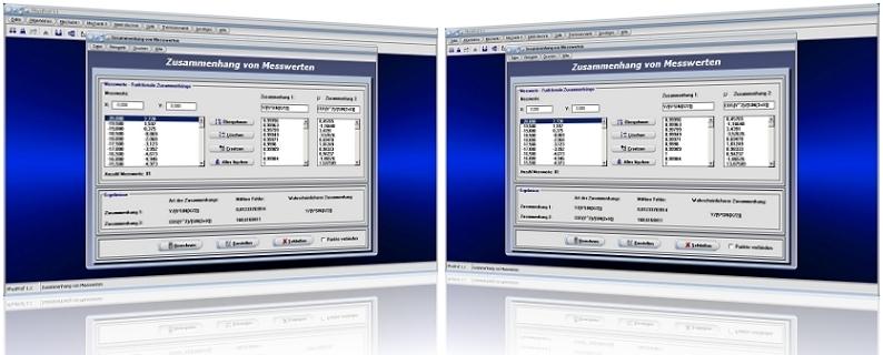 PhysProf - Messwerte - Zusammenhang - Zusammenhänge - Messwertpaare - Wahrscheinlichkeit - Daten - Kleinster mittlerer quadratischer Fehler - Funktionsgleichung - Mittlerer Fehler - Auswertung - Fehler - Analyse - Relation - Rechner - Darstellen - Grafik