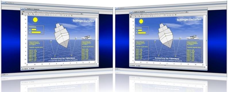 SimPlot - Grafiken - Rechner - Darstellen - Zeitkonstante - Schritte - Zyklus - Zykluszeit - Takt - Fortschritt - Schritt - Fortschreitend - Schrittfolge - Schrittsteuerung - Schrittweise Bewegung - Drehung - Rotation - Translation - Plotter