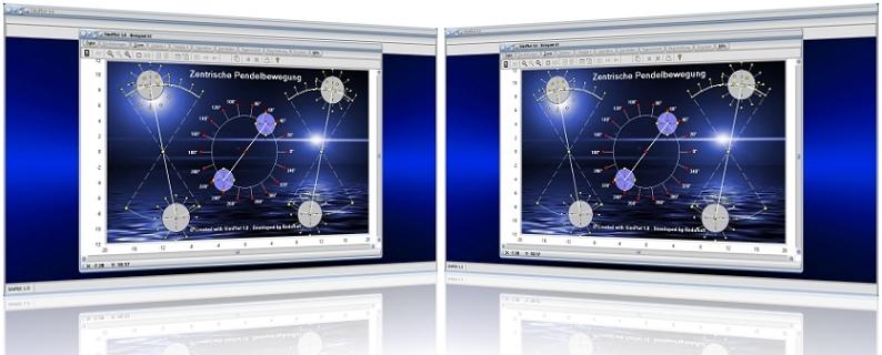SimPlot - Verschiebung - Streckung - Stauchung - Spiegelung - Steuerung - Transformation - Transformierung - Geschwindigkeit - Exzentrische Bewegung - Drehung - Eigendrehung - Zeitgesteuert - Mathematisch - Physikalisch - Ableitung - Komplex - Komplexe Funktion - Graph