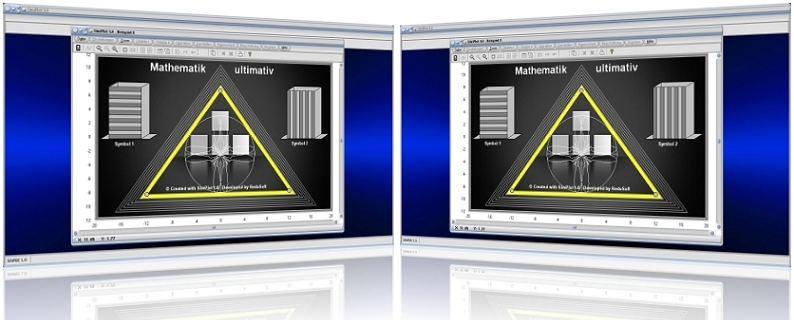 SimPlot - Software - Programm - Simulation - Simulieren - Animation - Berechnen - Rechner - Grafisch - Grafiken - Plotten - Animieren - Animiert - Umformung - Umformen - Position - Richtung - Positionierung - Positionieren - Synchrone Bewegung - Schrittfolge - Schrittsteuerung - Ablaufsteuerung  - Bewegliche Objekte - Bewegliche Gebilde - Bewegte Abläufe - Mathematik - Physik - Physikalisch - Bewegungssimulationen - Zeitgesteuerte Ablaufsimulationen - Bild - Bilder