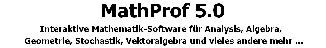 MathProf - Mathematik-Software - Gerade | Punkt-Richtungs-Form | Steigung | Abstand