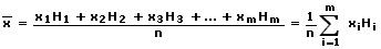 Gewogenes arithmetisches Mittel