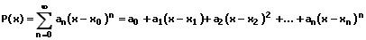 MathProf - Potenzreihen - Formel - Gleichung