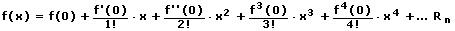 MathProf - Taylor-Reihe - Taylor - Reihen - Polynom - Taylorentwicklung - Formel