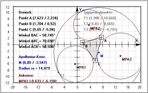apollonius punkt dreieck inkreis umkreis mathprof. Black Bedroom Furniture Sets. Home Design Ideas