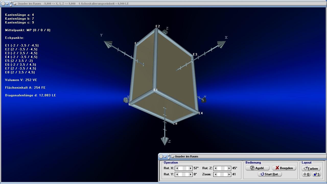 dreieck im raum pyramide quader stereometrie mathprof. Black Bedroom Furniture Sets. Home Design Ideas