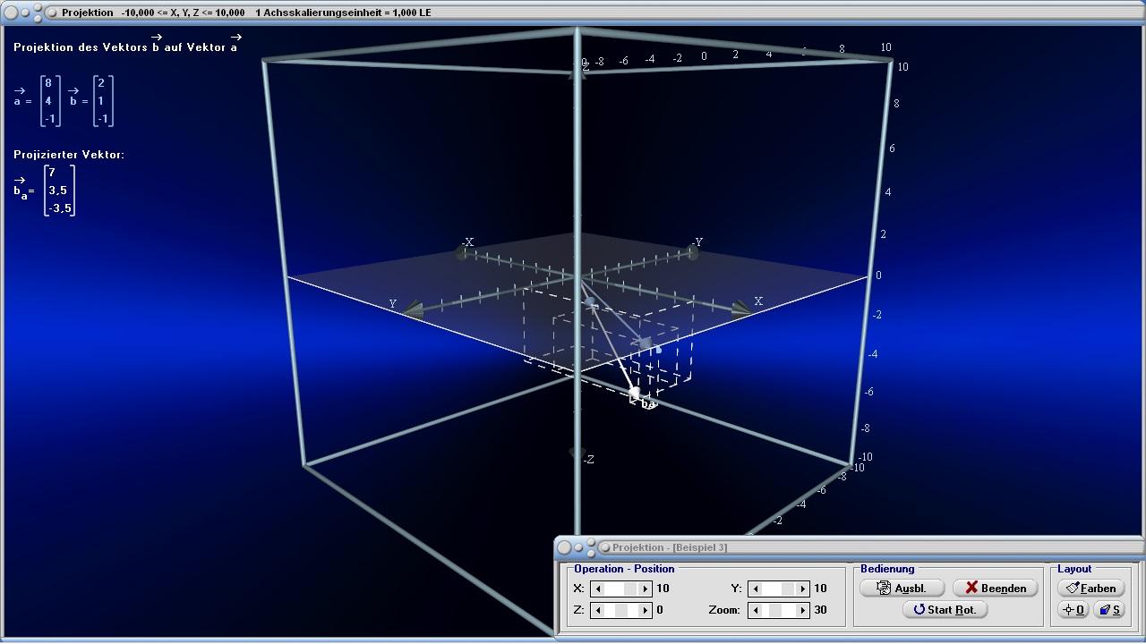 vektorprojektion vektor projektion orthogonalit t. Black Bedroom Furniture Sets. Home Design Ideas