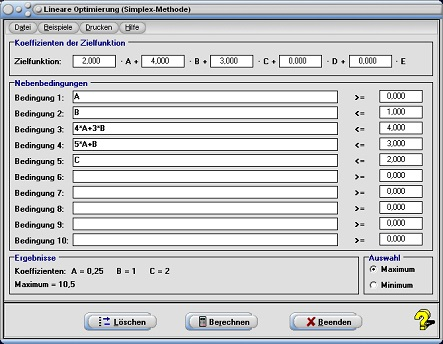 Lineare Optimierung | Simplex Methode | Simplex ...