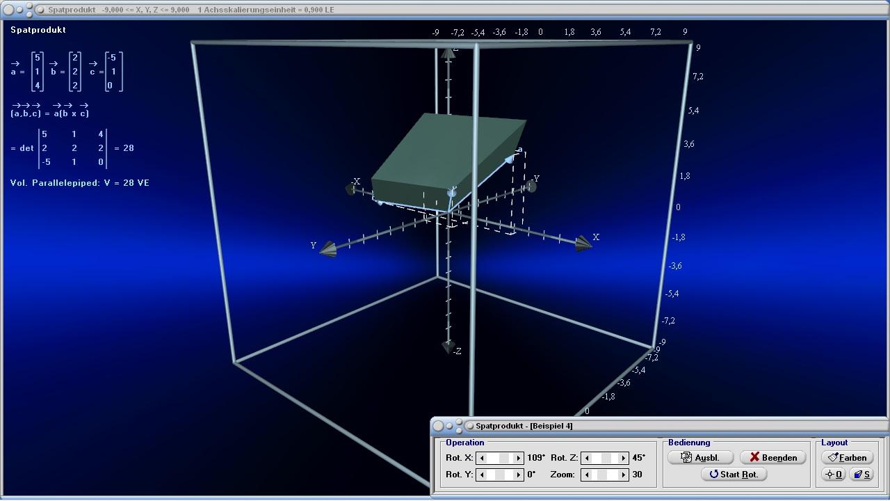 spatprodukt vektoren volumen raum parallelepiped. Black Bedroom Furniture Sets. Home Design Ideas