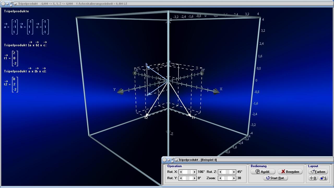 tripelprodukt vektoren 3d vektorrechnung berechnen. Black Bedroom Furniture Sets. Home Design Ideas