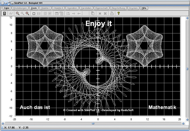 SimPlot - Simulationssoftware - Mathematik - Technik - Kurven - Bilder - Animation