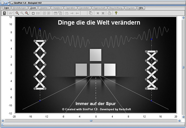 SimPlot - Bewegte Bilder - Simulation - Software - Animation - Feder - Kurve - Funktion