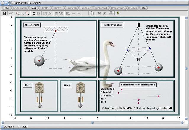 SimPlot - Software - Animationen - Pendel - Kreispendel - Simulation - Bewegung - Physik