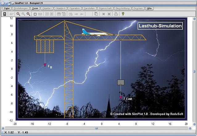 SimPlot - Zeitbedingt - Zeitintervalle - Pause - Programm - Software - Zeitverzögert - Zeitversetzt - Verzögert - Verzögerung - Beschleunigen - Bremsen - Zeitkonstante - Schritte