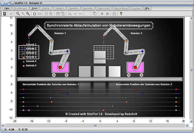 SimPlot - Intervall - Bewegungen - Bewegen - Bewegungsabläufe - Programm - Software - Zeitlich gesteuert - Zeitabschnitte - Zeitsteuerung - Zeitgesteuert - Zeitlich