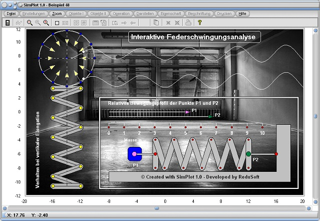 SimPlot - Programm - Software - Zeitabhängige Ablaufsteuerung - Zeitabhängige Geschwindigkeit - Zeitabhängige Funktion - Zeit - Intervall - Bewegungen - Bewegen - Bewegungsabläufe