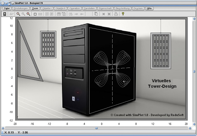SimPlot - Grafik - Funktion - Plotten - Funktionsgraph - Kurven - Animation - Tower - PC - Computer
